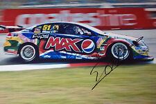Jacques Villeneuve SIGNED 12x8 Holden V8 Townsville 400 ,V8 Supercars 2012