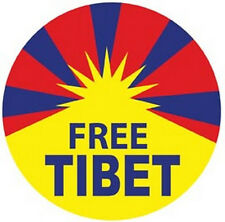 """Free Tibet"" Vintage Looking Hippy/Peace Travel Sticker"