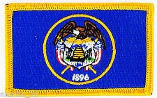 Ecusson Brodé PATCH drapeau UTAH USA AMERICAIN ETATS UNIS FLAG EMBROIDERED