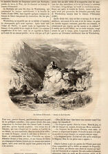 SUISSE CHATEAU D ORTENSTEIN CASTLE SCHWEIZ PRESS ARTICLE 1855 FRENCH CLIPPING