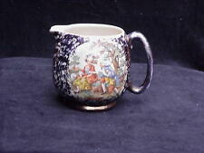 VINTAGE CHINA PITCHER/JUG MAN & WOMEN SCENE ON FRONT