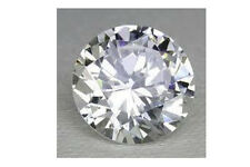 AAA Rated Round Faceted Bright White Lab Created Sapphire (1mm-21mm)
