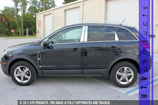 GTG 2012 - 2015 Chevy Captiva 6PC Chrome Stainless Steel Pillars Posts