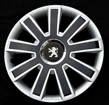 """New silver/black 16"""" wheel trims hubcaps to fit Peugeot Partner,Expert,407,308"""