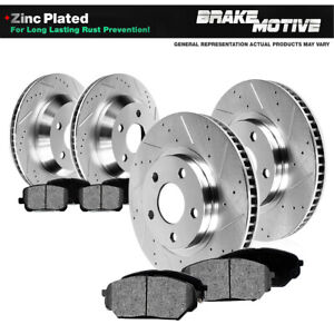 For Camaro Trans Am Front & Rear Drilled Slotted Brake Rotors And Metallic Pads