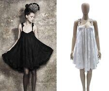 SALE BNWT Aussie designer GAIL SORRONDA Silk Cotton ROPE Dress Black or White