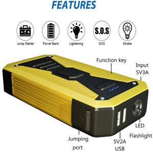 98000mAh Coche Jump Starter Arrancador Arranque Cargador de Batería Power Bank