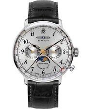 Zeppelin Armbanduhr mit Mondphasenanzeige Funktion