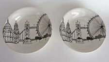 "Royal Stafford CITY SCENES London 6 3/4"" SOUP CEREAL BOWLS England SET-2 NEW"