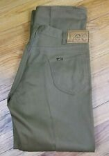 NOS Vintage LEE Riders Mens Jeans Olive Pants 36x41 Denim Excellent!