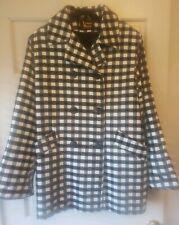 Vintage LAUREN MEREN Womens Winter Black & White Plaid Double Breasted Size 10
