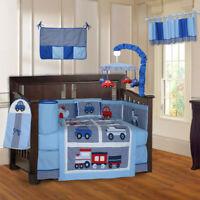 BabyFad 10 Piece Transport Baby Boys Crib Bedding set