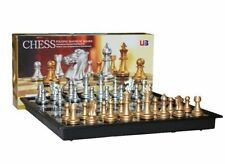 Travel Magnetic Chess Set with Folding Magnetic Board 3810a 230mm Notation
