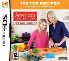 America's Test Kitchen Let's Get Cooking Nintendo DS Video Game NIB NIP