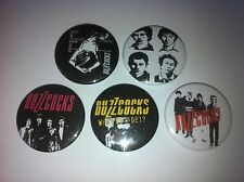5 The Buzzcocks Button pin badges 25mm Orgasm Addict Ever Fallen in Love Bites