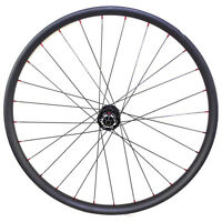 "29"" 33mm wide carbon fiber asymmetric wheel for MTB bike novatec thru axle hub"