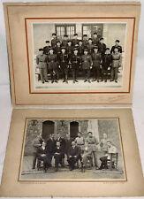 2 ANCIENNES PHOTOS 22ème BATAILLON de CHASSEURS ALPINS + ANCIENS POILUS, ca 1920