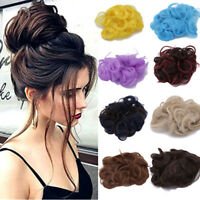 Fashion Messy Curly Bun Hair Extensions Hairpiece Scrunchie Updo Pony Tail Band