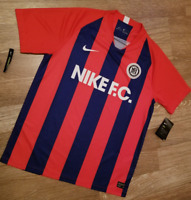 Nike FC Local Home Jersey Red Blue Men's Size Small Soccer Football NEW RARE !