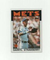 1986 Topps Darryl Strawberry #80 Baseball Card - New York Mets