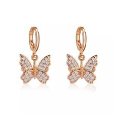 [NEW IN] Butterfly Hoop Drop Earrings, Gold Hoop Earrings.