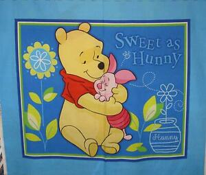 Disney's Pooh Piglet Sweet As Hunny Panel Cotton Print Quilting Fabric Springs