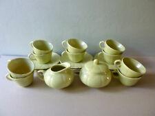 service à café Longchamp, 10 tasses, 1 pot à lait et 1 sucrier, années 40-50