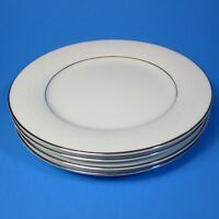 Noritake WHITEHALL Bread Plates Set of 4 Japan 6115 White on White Plate