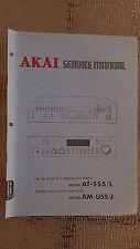Akai at-s55/L am-u55/J Service Manual stereo tuner amp original repair book
