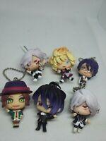 6pc Diabolik lovers otome figure keychain strap charm anime Japan kawaii lot