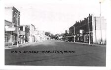 Mepleton MN~Eating Establishment~Mail Dropbox~Main St~Real Photo Postcard c1950