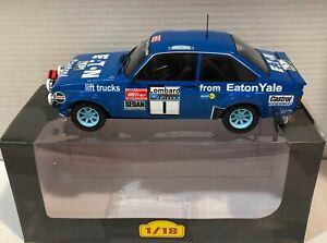 Ixo altaya 1/18 Die Cast Ford Escort RS1800 Mkii #1 Rally Rac 1979 H.Mikkola