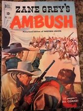 Zane Grey's Ambush Dell Comic Book #314 52 pages ZG1 1950 Magazine Vintage