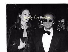 Celebrity Photo Black White Vtg Jack Nicholson & Angelica Huston