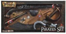 SET Déguisement PIRATE kit 10 PCES Pistolet Sabre Bandana Cache Oeil NEUF