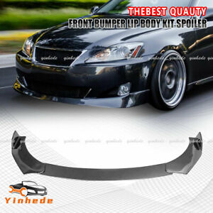Carbon Style Front Bumper Lip Splitter Protect Kit FOR LEXUS IS200T IS250 IS350