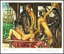 Kirnitskiy Sergey 2005 Exlibris C4 Yacht Erotic Erotik Nude Woman Ship Sail 108