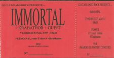 RARE / TICKET BILLET DE CONCERT - IMMORTAL : LIVE LYON ( FRANCE ) 1997
