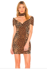 By the way Gabriella Mini Dress Leopard S NWT
