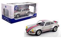 SOLIDO 1:18 SCALE 1973 SILVER PORSCHE 911 RSR DIECAST CAR MODEL S1801112