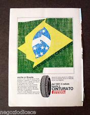 [GCG] P392 - Advertising Pubblicità -1968- CINTURATO PIRELLI , IN BRASILE