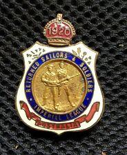 Australia Wwi Anzac Badge, 1920, 2 Armed Men, Stokes & Sons