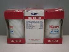 Lot of (3) Warner PH-2825 Oil Filters PF34 PH3639 PER42 51034 FCO42 LF2825HP