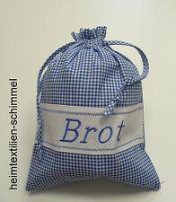 Brotbeutel Brottasche Stoffbeutel Stoffsack Brotsack Brötchenbeutel blau weiß
