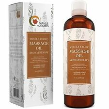Muscle Pain Massage Oil - 8 Oz | Joint Relief + Anti Cellulite | 100% NATURAL