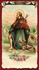 SAN ROCCO 07 SAINT ROCH SANTINO HOLY CARD IMAGE PIEUSE IMMAGINETTA - RELIGIOUS