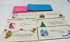 Vtg Christmas Card Vignettes Coronation see through envelopes 16 cards unused