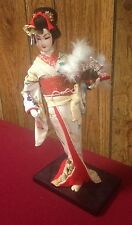 vintage NISHI JAPANESE DOLL (13 INCH) nd GEISHA GIRL IN KIMONO wow MADE IN JAPAN