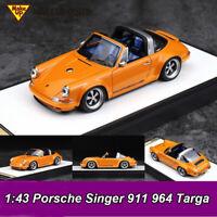 Make Up 1:43 Porsche Singer 911 964 Targa Convertible Resin Car Model Collection