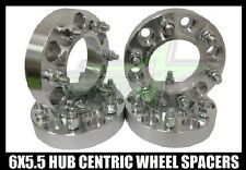 4 CHEVY SILVERADO HUB CENTRIC 6X5.5 WHEEL SPACERS 1.25 INCH THICK 14X1.5 STUDS